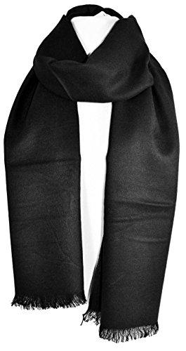 Promozione delle vendite scegli l'ultima corrispondenza di colore GFM - Sciarpa - Uomo Luxury Suit Scarf - Ultra Smooth - Black Medium