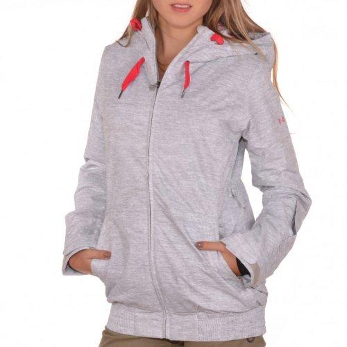 Roxy Damen Snowboard Jacke Valley Hoody, stn heather, L, WPWSJ574-22-L