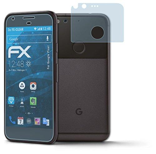 atFoliX Displayschutzfolie Google Pixel Schutzfolie - 3er Set - FX-Clear kristallklar