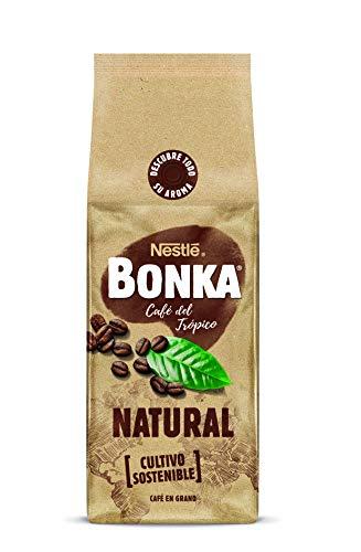 Bonka Café en grano de tueste Natural y de cultivo sostenible - Paquete de Café en grano de 500 gr