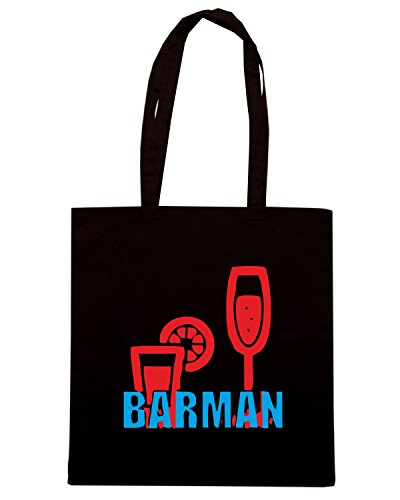 T-Shirtshock - Borsa Shopping BEER0158 Barman-Magliette (6) Nero