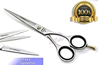 Professional Hairdressing SCISORS Barber Scissors German Stainless Steel Shears with Sand Finish Size 6.5