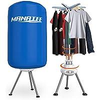 Manatee - Tendedero eléctrico portátil de 10 kg de Capacidad, Forma Redonda, Mejor Ahorro de energía, portátil, sin ventilación, secador, máquina de Secado Plegable con Calentador