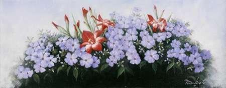 otz, Peter Kunstdruck auf PAPIER - Klein (60 x 23 cms ) (Blumen Bouqet)