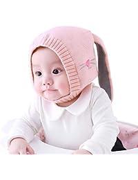 FOONEE Coniglietto Cappellino Knit Bunny Cappello Bambine Carino Coniglio  Bunny Orecchio Cappello con paraorecchie Cappello Neonato e32c22cdf171
