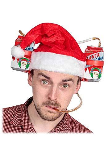 Mr.Giggelz Trinkhelm Weihnachtsmannmütze