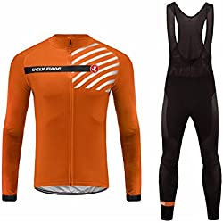 Uglyfrog #06 Nuevo De Invierno Mantener Caliente Hombre Manga Larga Maillot Ciclismo +Bib Pantalones Sets with Gel Pad Winter Style