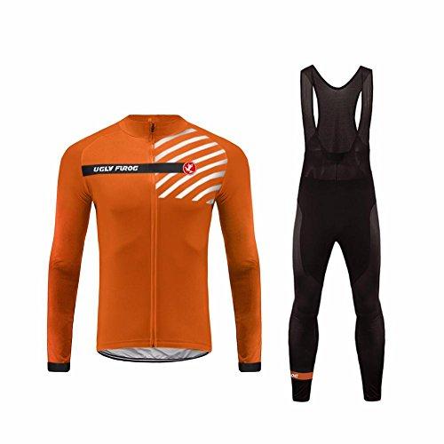 Uglyfrog #23 Radfahren Jersey + Lange Hose mit Gel PAD Langarm Winter with Fleece Bike Set