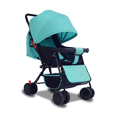 GRHLYR Cochecito de paraguas ligero for bebés, paraguas de empuje manual for bebés, ultraligero, portátil, bueno, plegable, puede sentarse reclinado, dormir, bebé, niño, coche