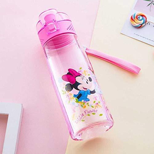 Gmxop Infantil Botella de Agua Portátil Cartoon Anti-Leaking Bebible Botella de Agua Sippy Taza - Minnie, One Size