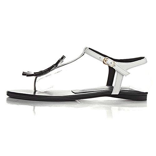 fleur perle orteil clip boucle plat mot chaussures élégantes mode sau version coréenne du nouvel été 2017 Noir