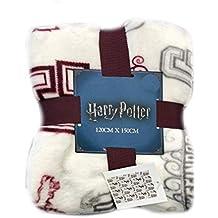 Primark Harry Potter Manta Slytherin Ravenclaw Gryffindor Hufflepuff Manta de Cama 125 cm x 150 cm