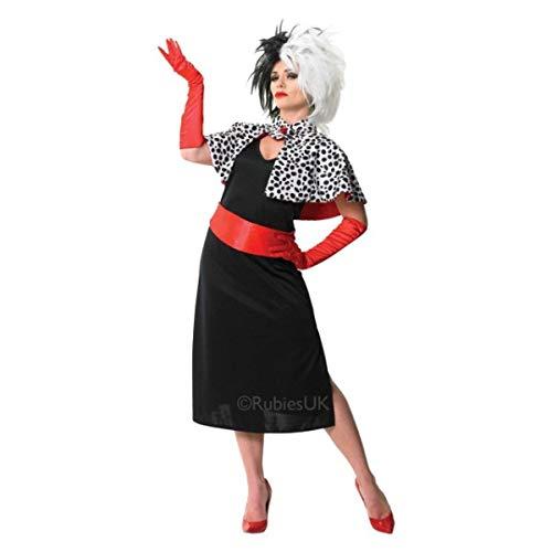 Adult Cruella Kostüm Vil De - Rubie's 3880564 - Cruella de Vil Adult, L, schwarz/weiß