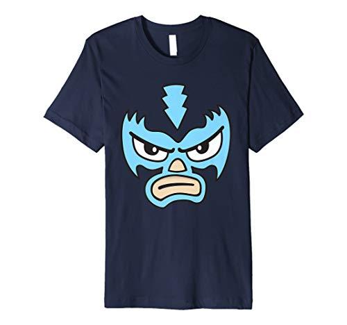 (Mexikanischen Wrestlers Love blau Maske Cartoon Face Graphic T-Shirt)