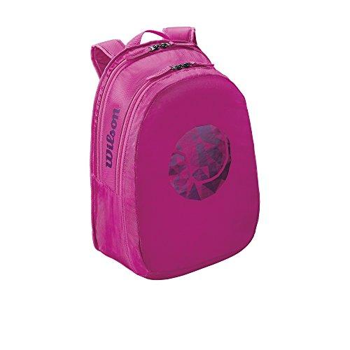 Wilson Mädchen Tennis-Rucksack, für junge Nachwuchsspielerinnen, Junior Backpack, Einheitsgröße, Pink, WRZ641896