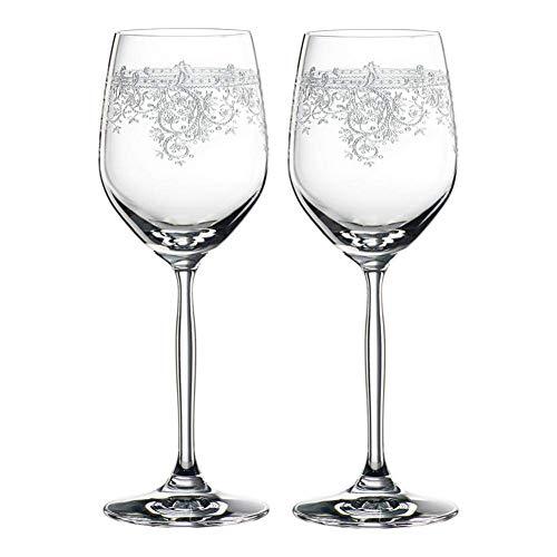 G.TZ-Wine Glass Kristall Weinglas Set Von 2 X340ML Rot Weiße Weingläser - Personalisierte Graviert...