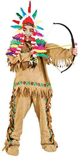Carnevale Venizano CAV50521-16 - Teenagerkostüm INDIANO - Alter: 12-16 Jahre - Größe: (Carnevale Indiana Kostüm)