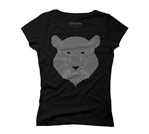 Stripes Tiger Women's Graphic T-Shirt - Design By Humans Black