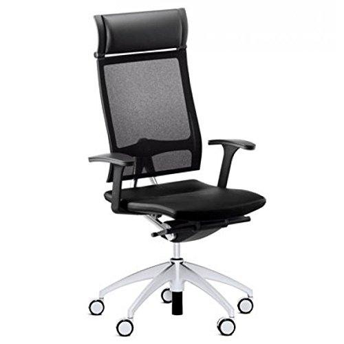 Sedus Stoll Open up-Sessel Büro Bewegung Similar Lendenwirbelstütze Verstellbaren Armlehnen-Stoff schwarz Kopfstütze