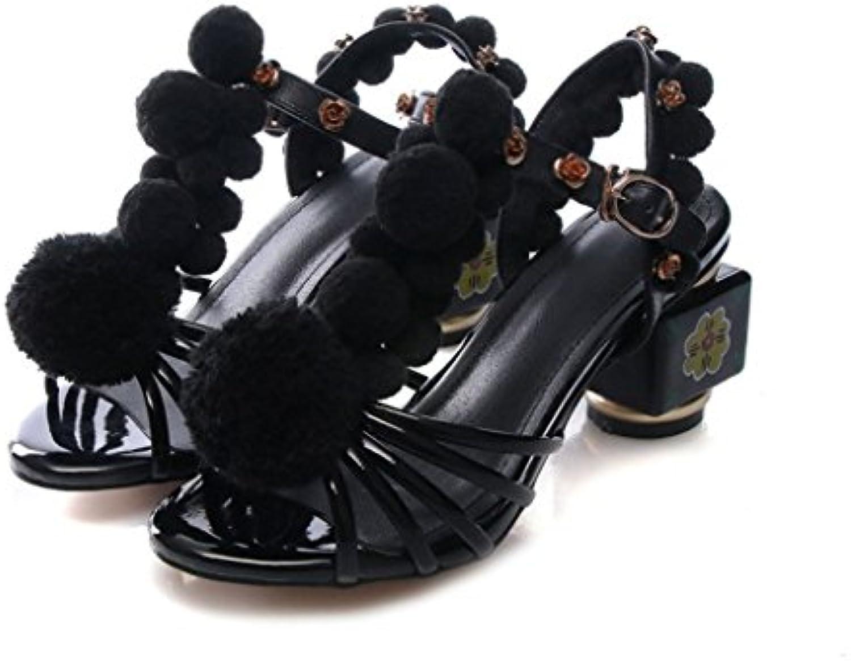 AIKAKA Zapatos de Mujer de Primavera y Verano de Gran Tamaño con Sandalias de Estudiantes de Alta Ayuda -
