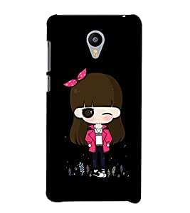 Stylish Doll Design 3D Hard Polycarbonate Designer Back Case Cover for Meizu M2 note :: Meizu Blue Charm Note2