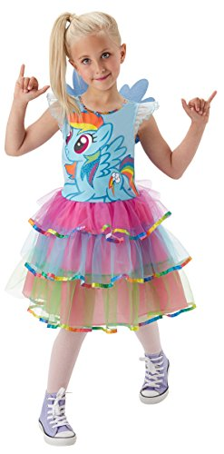 Rubie's 3620099 - MLP Rainbow Dash Deluxe - Child, Action Dress Up (Rainbow Dash Farbe)