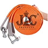 JIC PRODUCTS® Heavy Duty Car Towing Belt 5Mtr Long with 2pc Heavy Duty Clamps/D Shackles