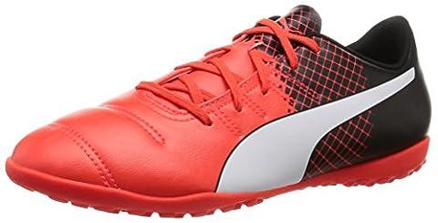 Puma Unisex-Kinder Evopower 4.3 Tricks Tt Jr Fußballschuhe, Rot (Blk/Wht/Red), 38 EU