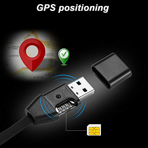 GPS Dispositivo Tracker System Cargador Micro USB Cable Android Locator Voice Listening...