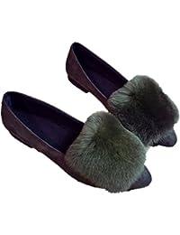 Otoño de mujer y zapatillas lindo invierno, zapatillas de algodón cálido hogar de la manera , wine red , 35