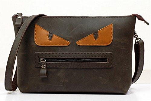 Xinmaoyuan Borse donna retrò colore Hit borse tracolla messenger bag,giallo Nero caffè