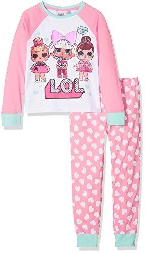 LOL Surprise Fancy, Sis Swing and Diva, Conjuntos de Pijama para Niñas, Rosa (Pink 014), 5-6 Años