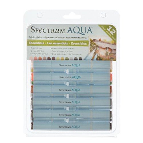 Spectrum Noir - Filzstifte Aqua in Hauptfarben, 12 Stück, Mehrfarbig (Machen Farbe Mischen Karte)