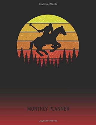Monthly Planner: Horse Jumping Dressage Hurdle | 2 Year Planning for Jan 2020 to Dec 2021 | Retro Vintage Sunset Cover | January 20 - December 21 | ... | Plan Days, Set Goals & Get Stuff Done -