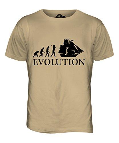 CandyMix Brigantine Evolution Des Menschen Herren T Shirt Sand