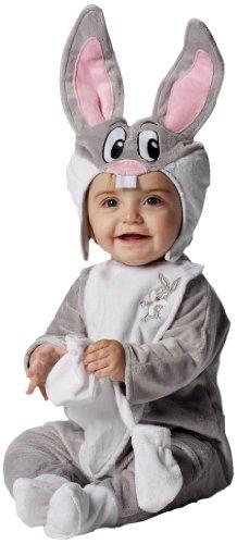 Joker d820-001 baby looney tunes bugs bunny costume di carnevale, in busta, grigio e bianco