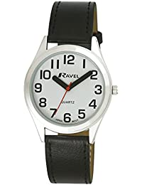 Ravel Unisex-Armbanduhr Analog Quarz Schwarz R0125.01.1
