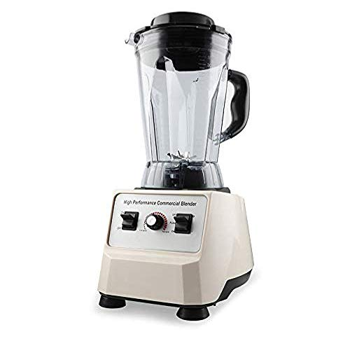 POIUYT Ice Crusher/Blender/Smoothie / 10 L Smoothie   Powerful 1000W W/Stainless Steel Blade for Ice, Soup, Nuts and Butter,Beige