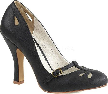 Pin Up Couture SMITTEN-20 Damen Retro Pumps Blk Faux Leather