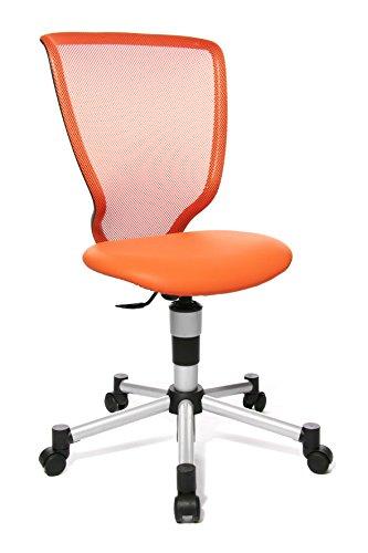 Topstar 71487S14 Titan Junior, Schreibtischstuhl, Kinderdrehstuhl, Jugenddrehstuhl, Netzrückenlehne und Bezugsstoff orange