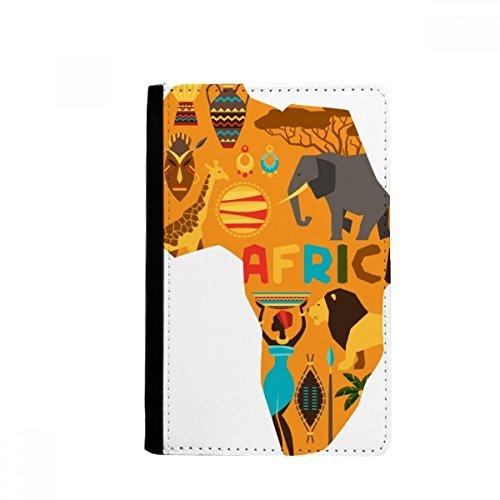 beatChong La Correspondencia De África Elefante Africano De Sabana Ilustración Pasaporte Monedero Tarjeta De Caso De La Cubierta Cartera De Viaje Titular