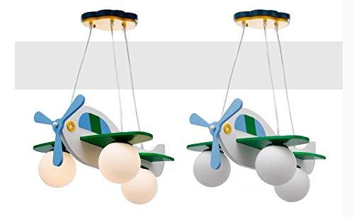 Jungen und Mädchen Lampen Schlafzimmer Kinderzimmer minimalistischem Kronleuchter Schlafzimmerlampe Karikatur Flugzeug (Durchmesser 49cm) - 3
