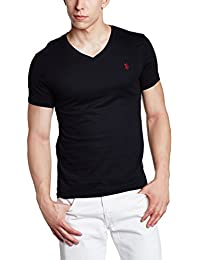 US Polo Assn. Men's V Neck Cotton T-Shirt (I031-002-P1-XL Black)
