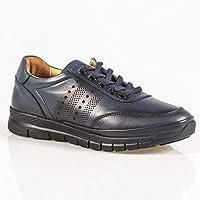Günlük Lacivert Hakiki Deri Ayakkabı YMR101
