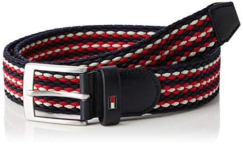 Tommy Hilfiger Uomo Adan Stripe Elastic Belt 3.5 Cintura Not Applicable, Blu (Corporate Mix 902), 8 (Taglia Produttore: 100)