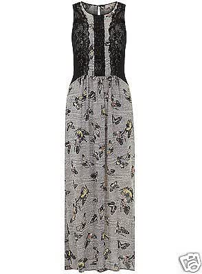BILLIE & BLOSSOM DOROTHY PERKINS BUTTERFLY PRINT MAXI DRESS