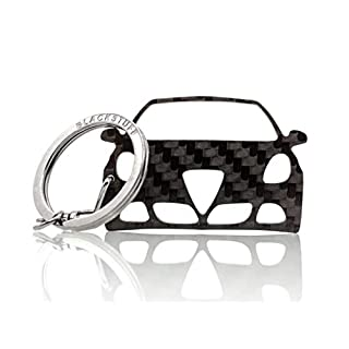 BlackStuff Carbon Fiber Keychain Keyring Ring Holder Compatible With Alfa Romeo Giulietta BS-130