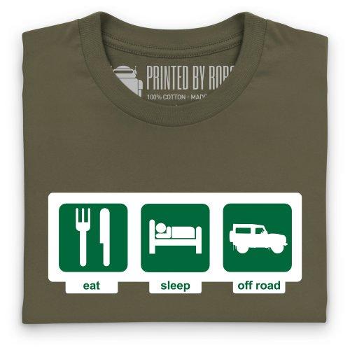 Eat Sleep Off-Road T-Shirt, Herren Olivgrn