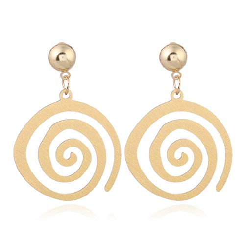 Earrings, Sale Simple Spiral Earrings Metal Golden Stainless Steel Geometric Women Girl Jewelry Gifts Party Wedding Prom Fashion Elegant Decoration
