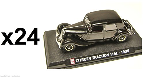 Générique Lot de 24 Voitures CITROËN Traction 11 AL 1935 1/43 - Collection Auto Plus - Voiture Collection